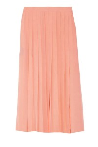 Midi pleated skirt in peach courtesy of Glamour