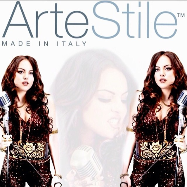 Liz Gillies posing for Artestile campaign