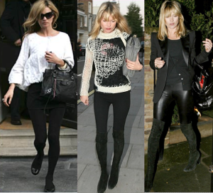 Kate wearing them with sweaters, blouse or jacket
