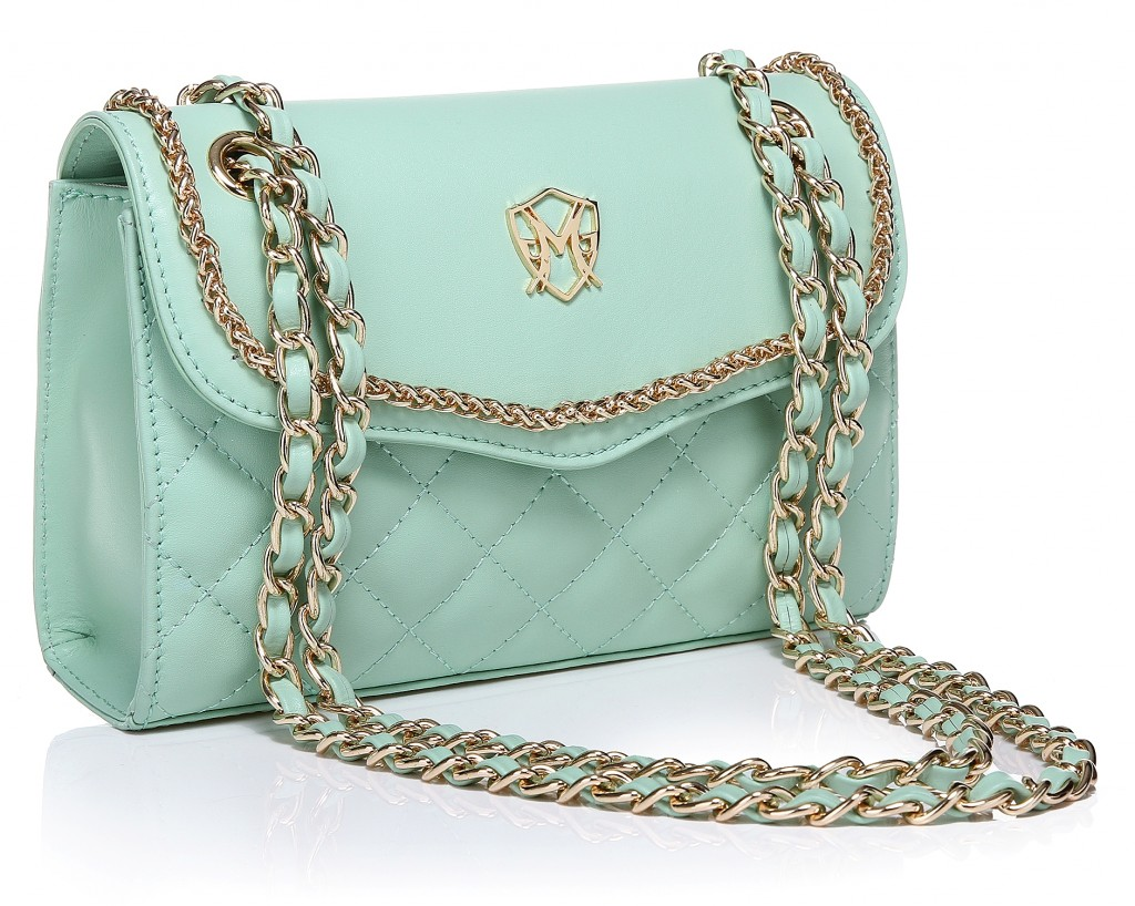Greg Michaels leather natalie teal mint green