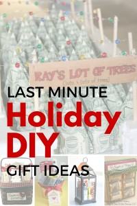 Last minute holiday DIY gift ideas