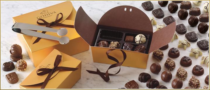 Customised ballotin Godiva chocolate
