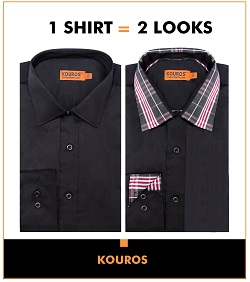 1 shirt 2 looks in black
