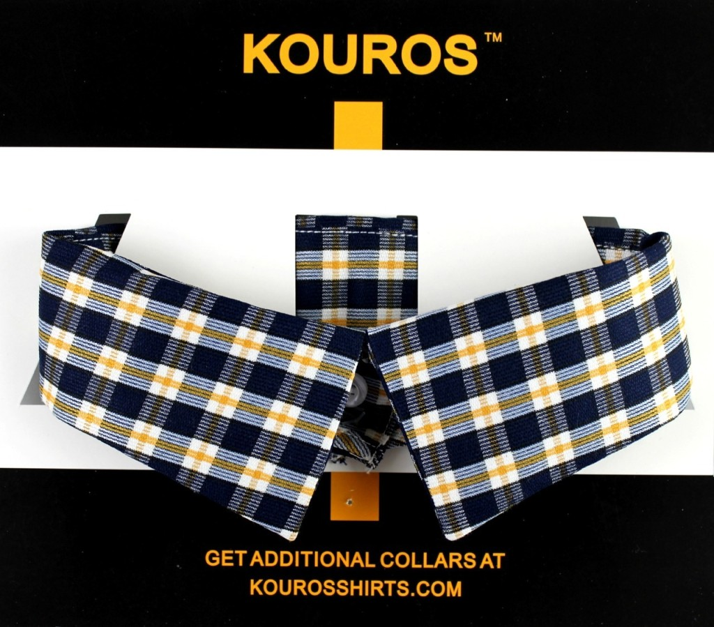 OnCollar in blue yellow plaid