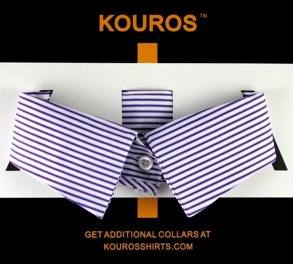 OnCollar in white purple stripe