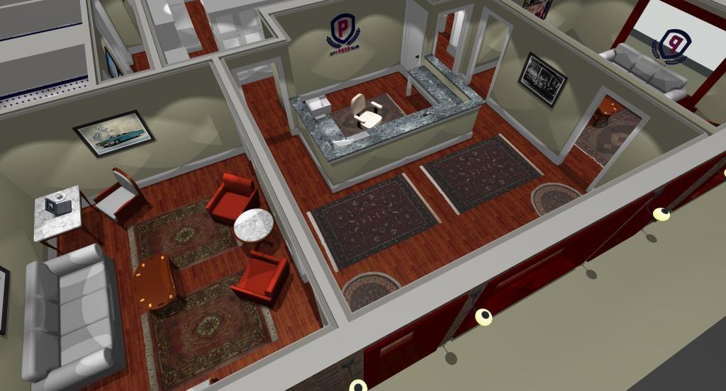 Posh City Club lounge area