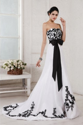 Stunning A-Line Princess Sweetheart Sleeveless Embroidery Sash Court Train Net Satin Wedding Dress - $215