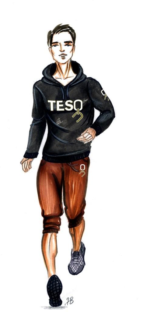 TESO mens hoodie and harem pants