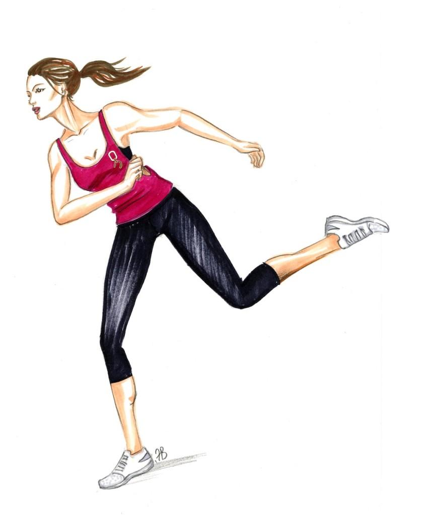 TESO womens fitness pink singlet