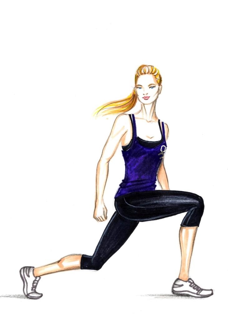 TESO womens fitness purple singlet
