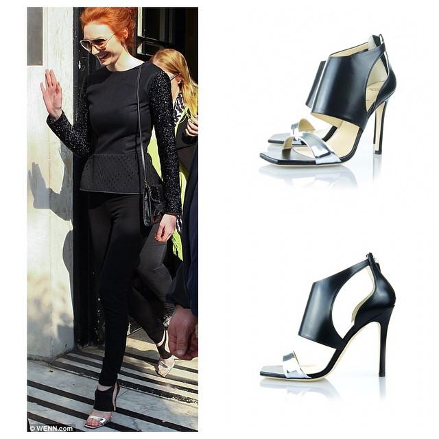 Eleanor Tomlinson wearing Alexander White's Aziza shoes