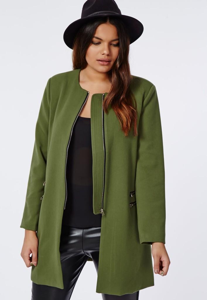Curvy girls style - Khaki jacket