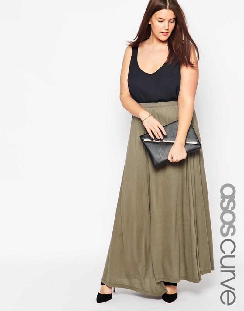 Asos Khaki maxi skirt
