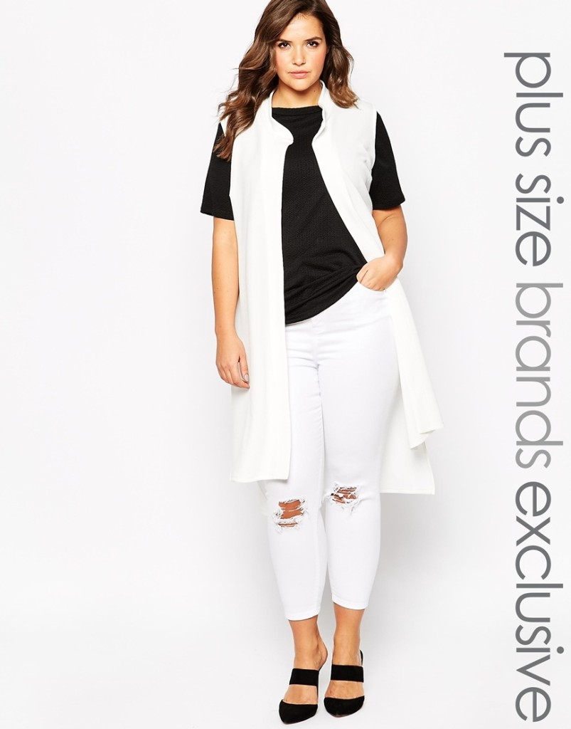 Asos long white vest
