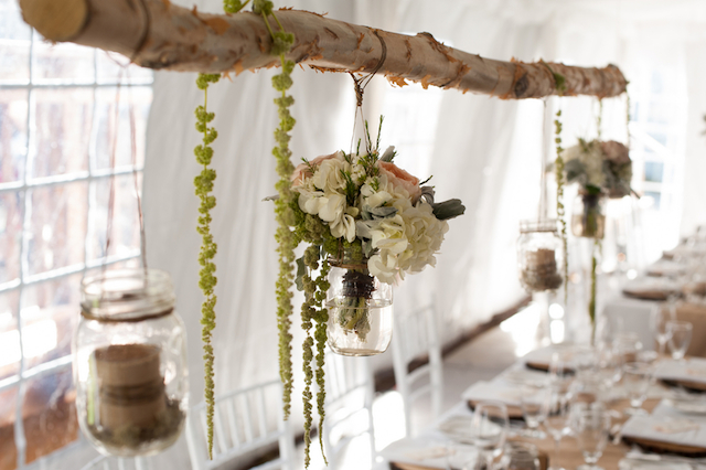 Green Autumn wedding decor