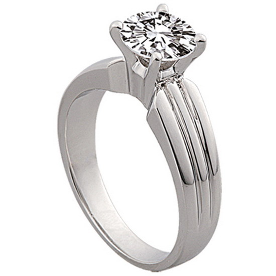 Custom engagement ring solitaire ring