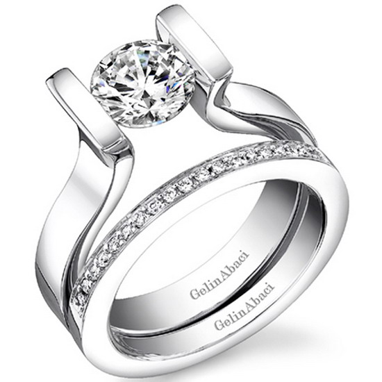 go for custom engagement ring and wedding dress the