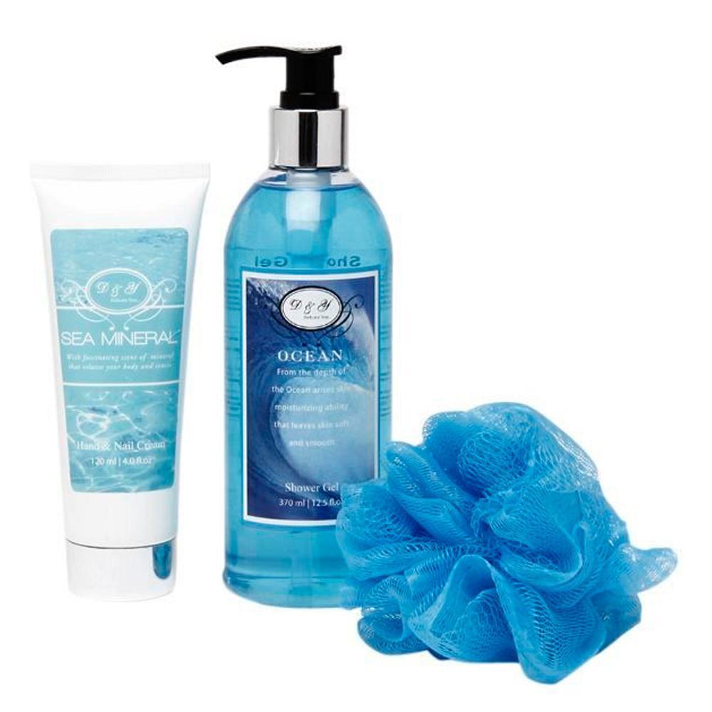 Shower gel and sponge