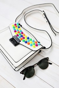 A Beautiful Mess colourful spike bag