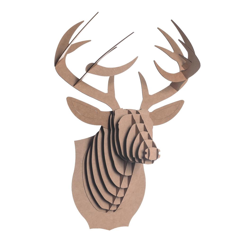 Cardboard Safari cardboard deer head