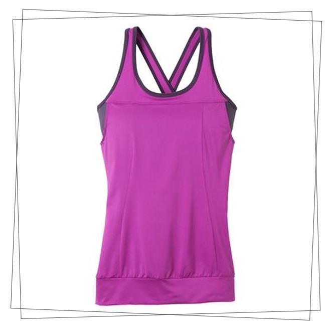 Magenta criss cross back gym top