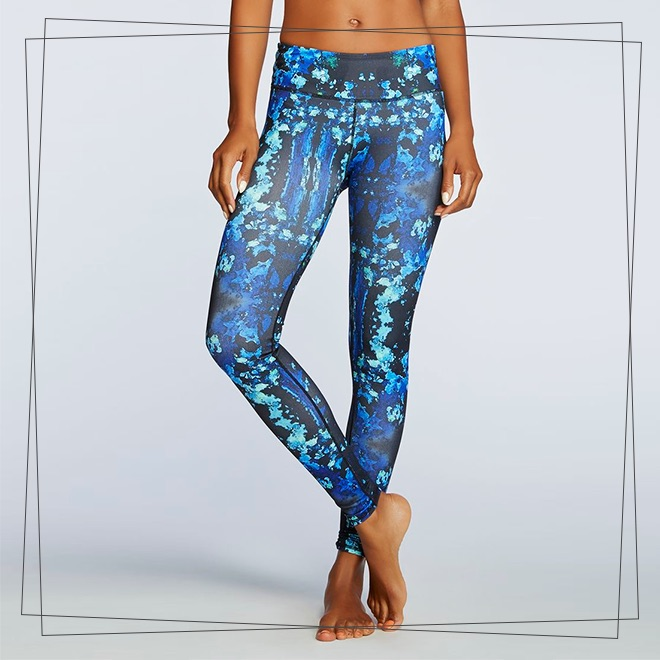 Blue print gym pants