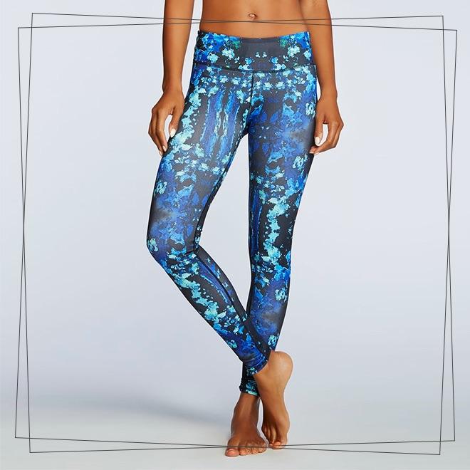 Blue print gym pants