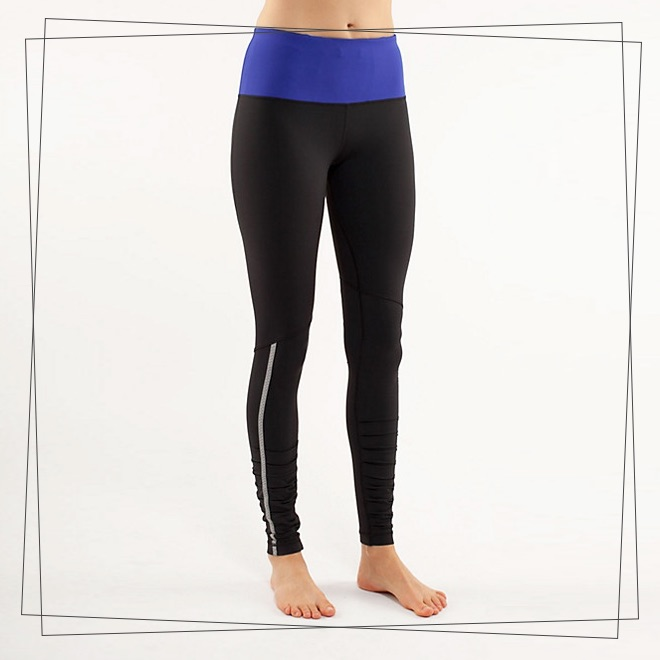 Gym pants in black and blue