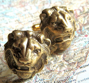 Men's lion cufflinks