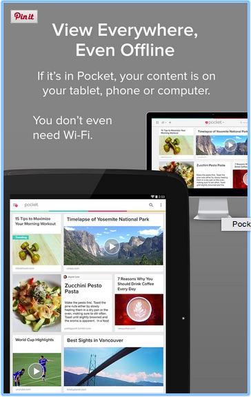 Pocket app images