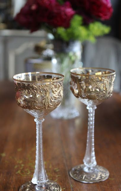 Antique look glassware
