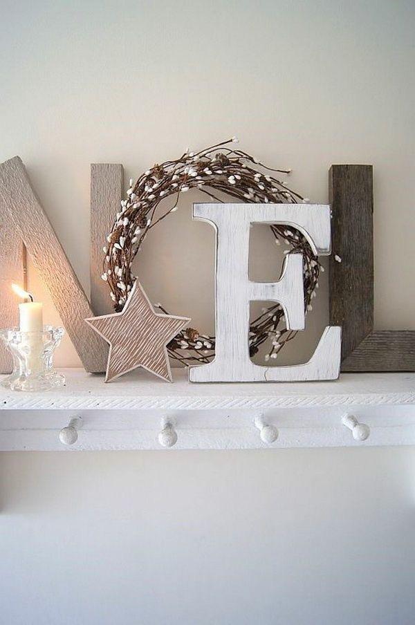 Noel shelf letter décor