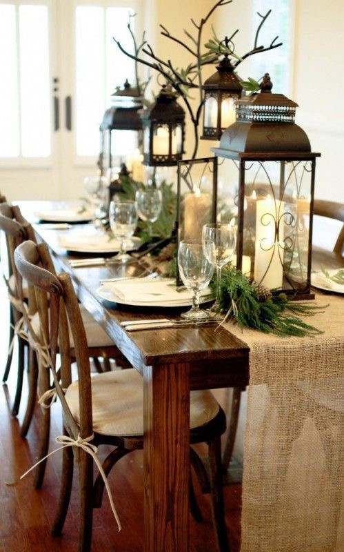 Holiday centrepiece and table décor
