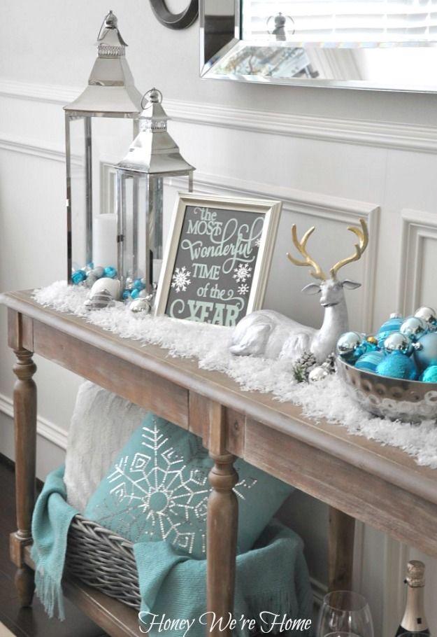 Soda or console table décor