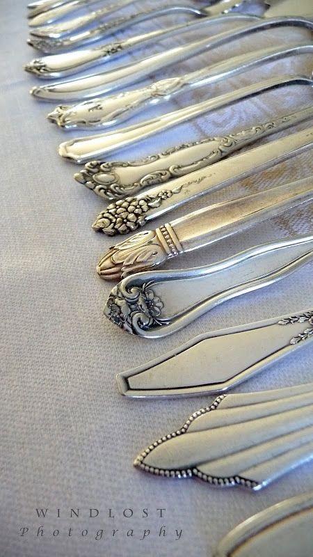 Antique look silverware