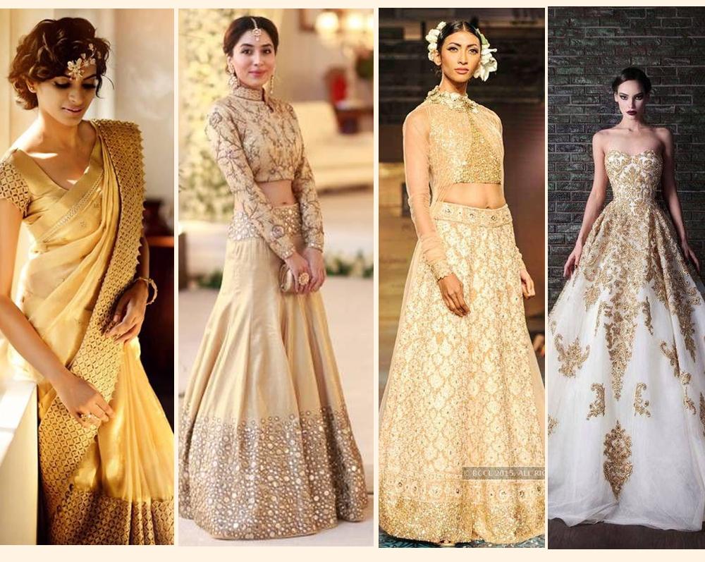 Magic of gold stardust wedding dresses