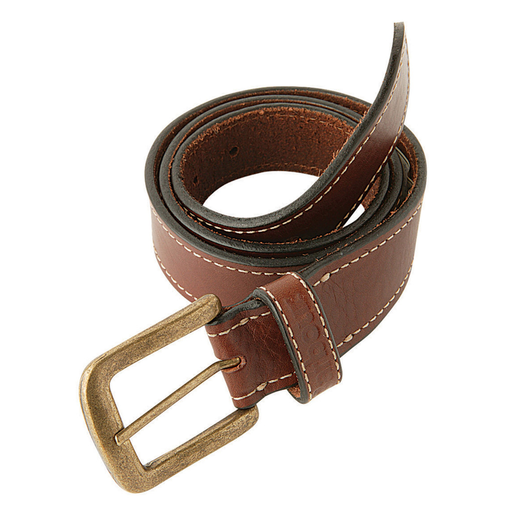 Naylors barbour mens leather belt in brown