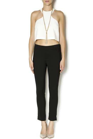 Racerfront cropped top in white