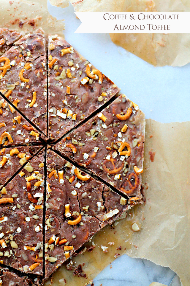Chocolate coffee almond toffee