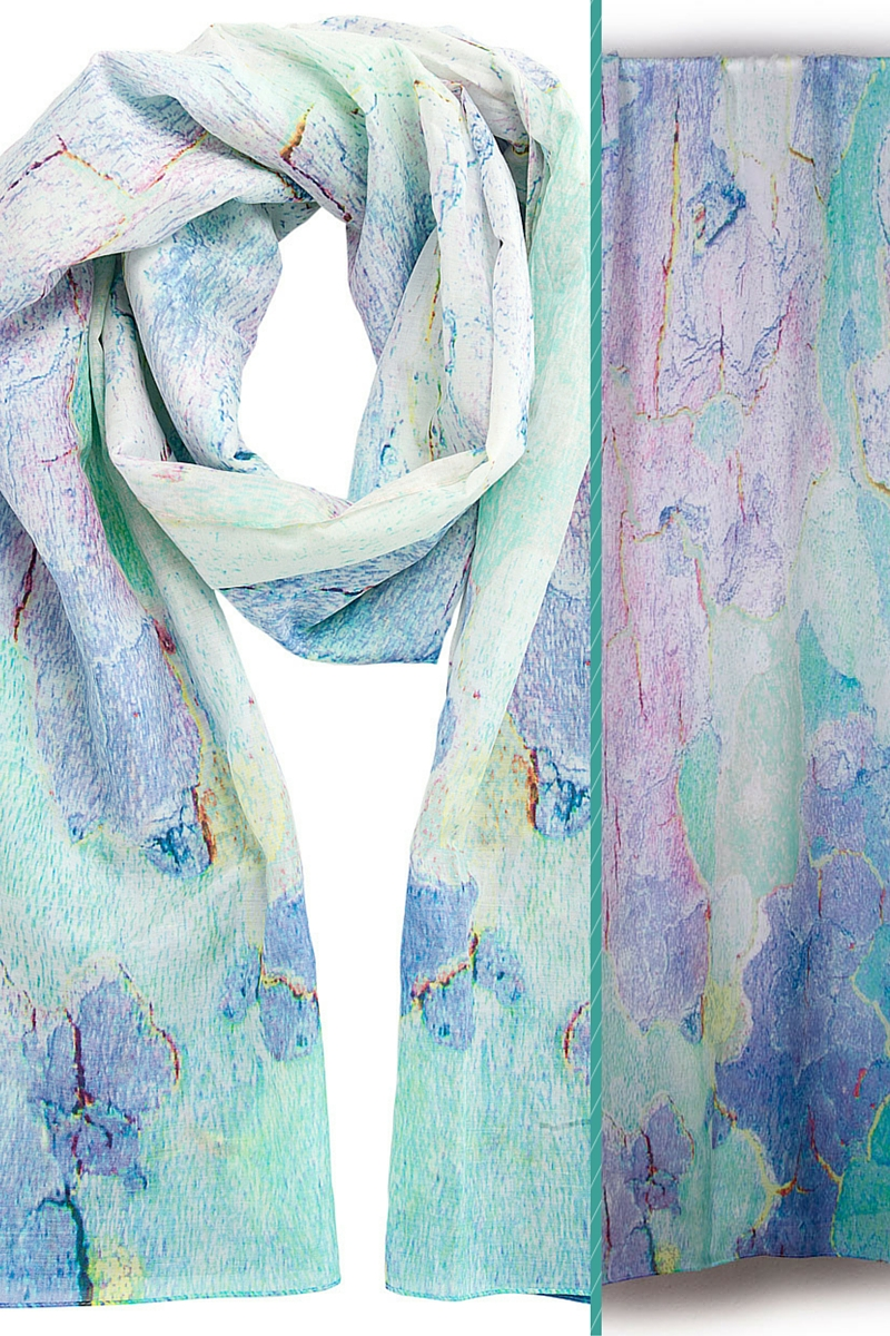 Behind the Woodland scarf