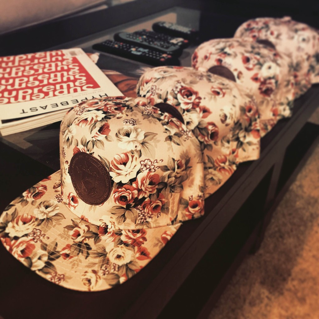 Genuine By Anthony pink floral snapback