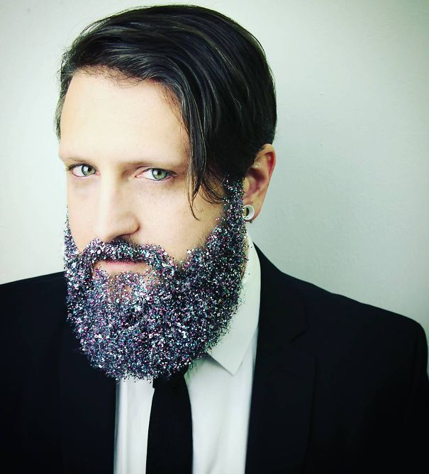 Hipster holiday beard