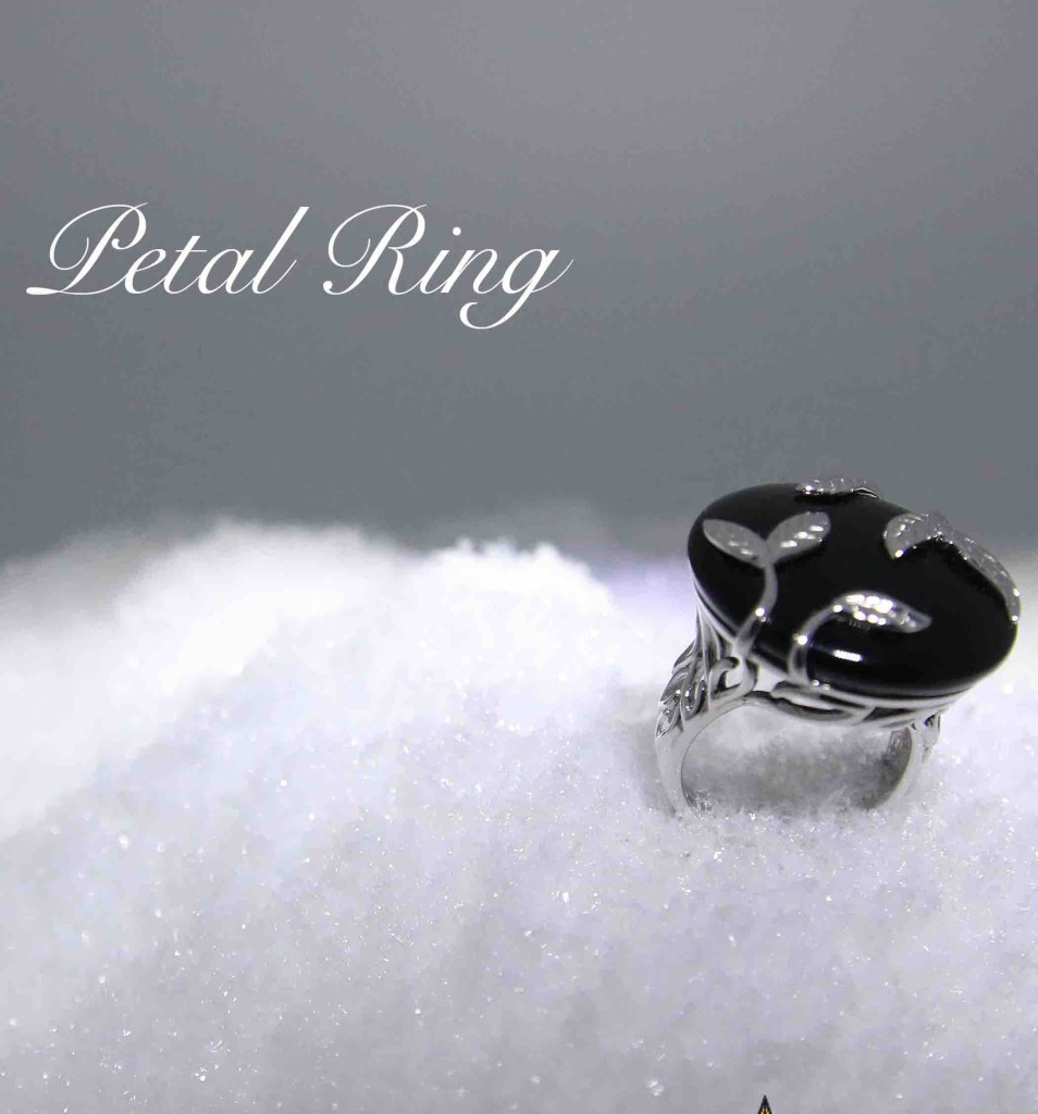 Petal cocktail ring