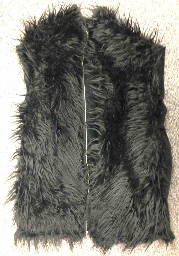 Fur vest finished