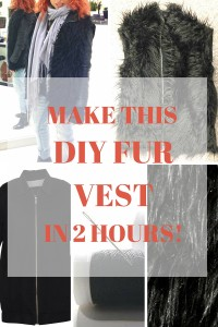 Make This DIY Fur Vest in 2 Hours From an Old Zip-up + FREE Step-by-Step Tutorial
