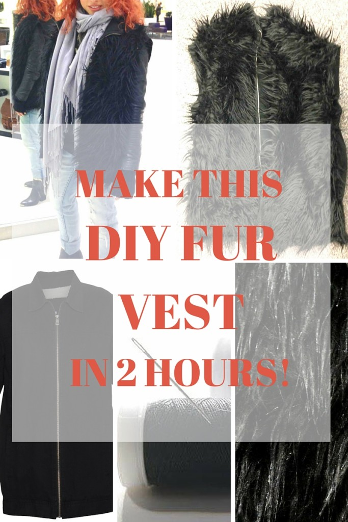 Make this DIY fur vest in 2 hours