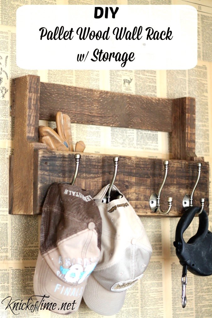 Pallet wall storage rack