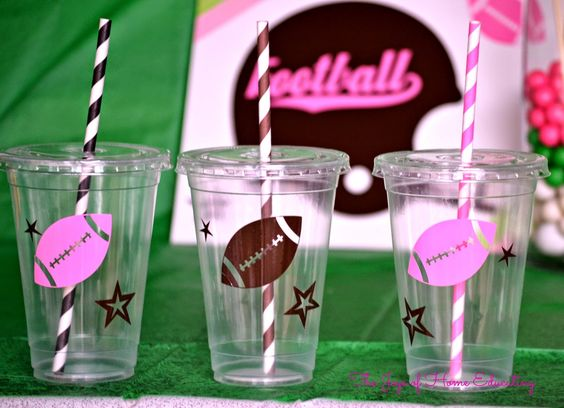 Football drinking cups