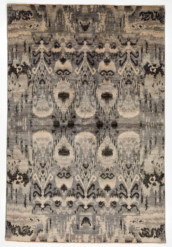 Ikat multi coloured rug