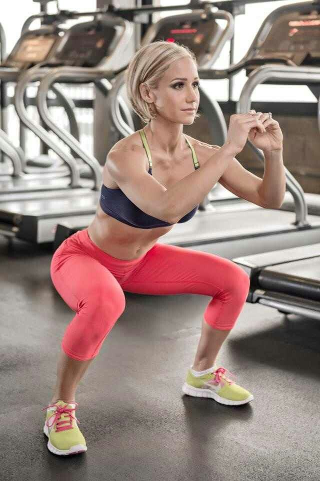 Squats are a great exercise as part of a fitness model workout